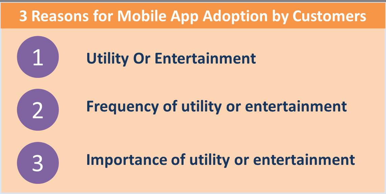 3 reasons for mobile app adoption